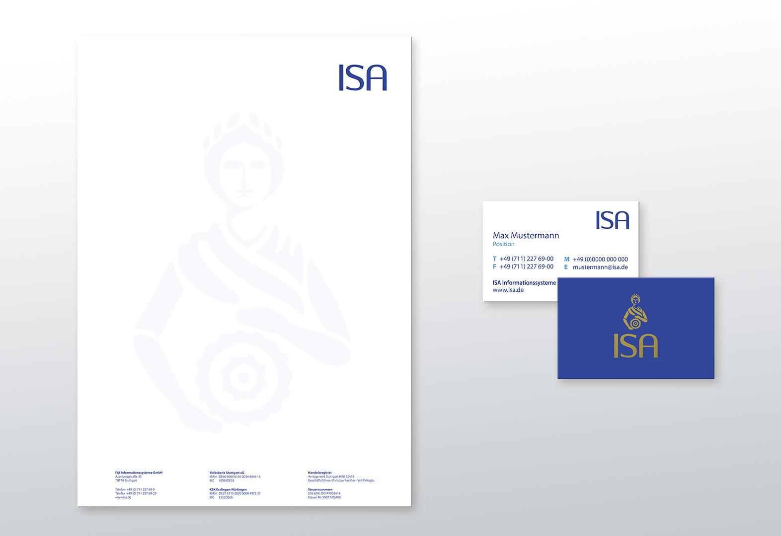 ISA Briefpapier Visitenkarten